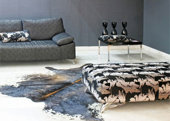 Master Room With Cowhide Rug