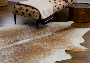 Cowhide Rugs Used As Art Decor