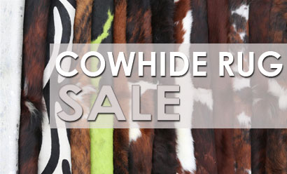 Many Cowhide Rugs On Sale!