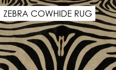 Decorate Your Home With A Striking Zebra Print Cowhide