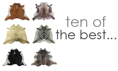 Ten Of The Best – Our Top Ten Picks Of Animal Skin Rugs