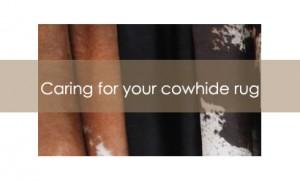 Cowhide Rug Care