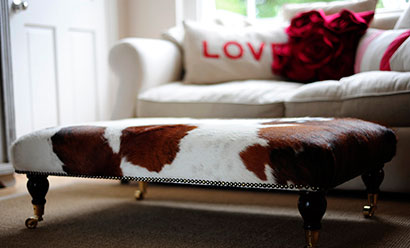 Cowhide Footstools – Put Your Feet Up In Luxurious Natural Style